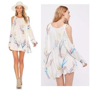 Free People Clear Skies Floral Cold Shoulder Tunic